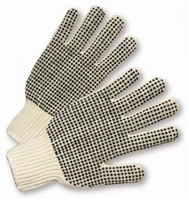 String Knit PVC-Dotted Gloves
