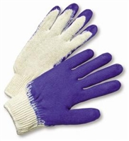 Natural String Knit, Blue Latex Palm Coated Gloves