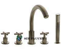 Roman Tub Faucet with Body Spray