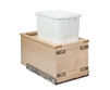 "Century Components TOUCH-TO-OPEN Cascade Series 11"" Bottom Mount Waste System - 34 qt. Bin"