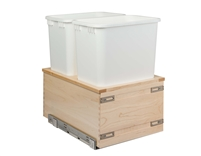 "Century Components TOUCH-TO-OPEN Cascade Series 14"" Bottom Mount Waste System - 34 qt. Bin"