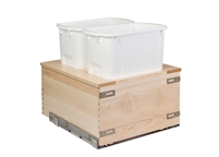"Century Components TOUCH-TO-OPEN Cascade Series 17"" Bottom Mount Waste System - 34 qt. Bin"