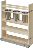 "Century Components 5-7/8"" Canister Pull-Out Organizer - Baltic Birch"