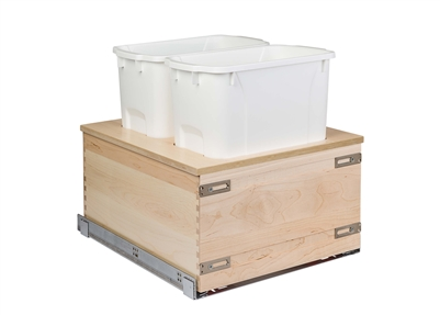 "Century Components Edge Series 17"" Bottom Mount Waste System - Double 34 qt. Bin"