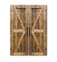 "HRC 34"" x 79"" British Brace Double Barn Door 