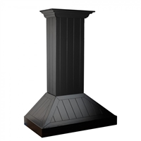 ZLINE Black Wood Shiplap Chimney Hood - Includes 400 CFM Motor