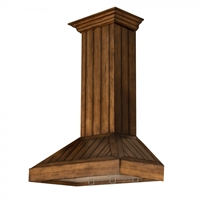 ZLINE KPLL Rustic Wood Chimney Hood - Includes 400 CFM Motor