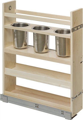 "Century Components 5-7/8"" Canister Pull-Out Organizer - Solid Maple"