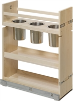 "Century Components 8-7/8"" Canister Pull-Out Organizer - Solid Maple"