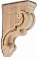 Traditional Scroll Bar Bracket - From Hardware and Molding