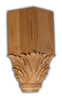 Acanthus Crown Block - Red Oak