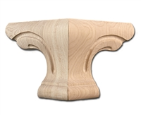 Pedestal Foot Corner - Cherry