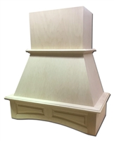 Castlewood Arched Raised Panel Valance Chimney Range Hood with Removable Upper Access