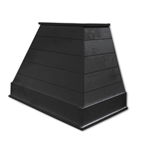 Castlewood SY-WCSLRH-BK Black Rustic Shiplap Chimney Range Hood (Without Chimney Extension)