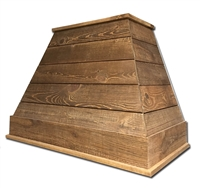 Castlewood SY-WCSLRH-BR Brown Rustic Shiplap Chimney Range Hood (Without Chimney Extension)