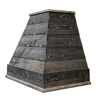 Castlewood SY-WCSLRH-DG Dark Gray Rustic Shiplap Chimney Range Hood (Without Chimney Extension)