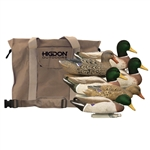 Magnum Mallard, Foam Filled, Flocked Heads, + 6 Slot Bag