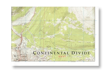 Continental Divide On Us Map.10th Mountain Huts Continental Divide Map