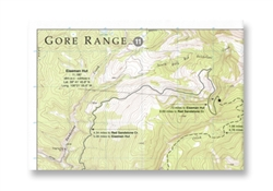 10th Mountain Huts, Gore Range topo map