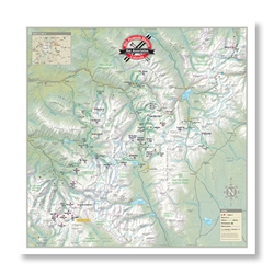 System map for 10th Mountain Huts.
