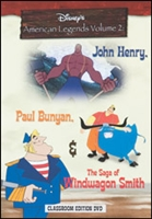 American Legends:  P. Bunyan, J. Henry & W. Smith