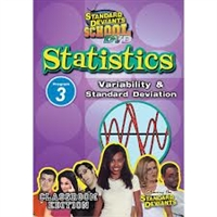 Standard Deviants School Statistics Module 3: Variability And Standard Deviation DVD