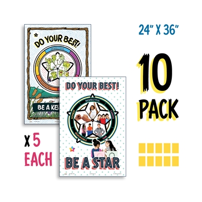 Kelso Star Poster K-3 and 4-5 Poster Set (10 Pack)
