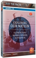 Just the Facts: Exploring Our Nation: Elementary/Middle School DVD Superpack