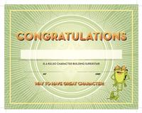 Character Building Reward Certificates (30 Pack)