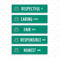 CHARACTER STREET SIGNS (5 PACK)