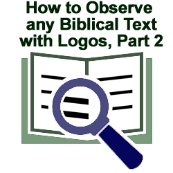 How to Observe any Biblical Text with Logos, Part 2