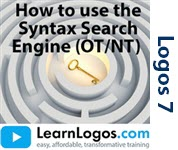 How to Use the Syntax Search Engine (OT/NT)