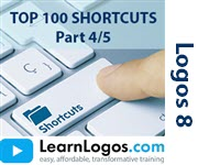 Logos 8 Top 100 Shortcuts, Part 4/5
