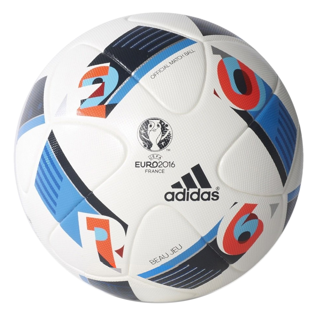 euro 2016 beau jeu official match soccer ball white bright blue night indigo adidas soccer. Black Bedroom Furniture Sets. Home Design Ideas