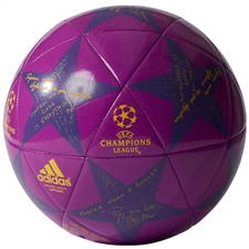 Adidas Finale 16 Capitano Soccer Ball (Shock Purple/Solar Gold)