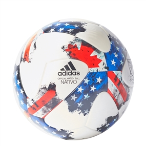 Adidas 2017 MLS Official Match Soccer Ball (White/Red/Blue)