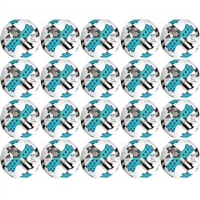 Adidas 2017 MLS Glider Soccer Ball 20 Pack (White/Energy Blue/Bold Onix)