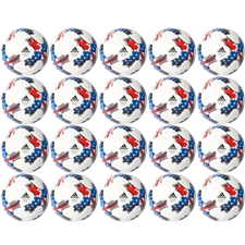 Adidas 2017 MLS Top Glider Soccer Ball 20 Pack (White/Red/Blue)