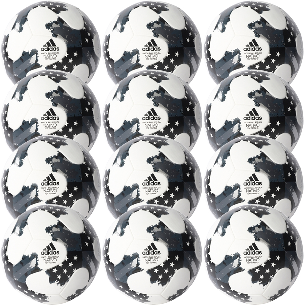 Adidas 2017 NFHS MLS Top Training Soccer Ball 12 Pack (White ... 4a681a8e26af5