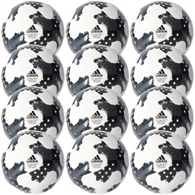 Adidas 2017 NFHS MLS Top Training Soccer Ball 12 Pack (White/Metallic Silver/Black)