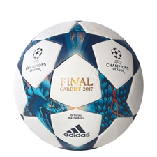 Adidas Finale Cardiff Official Match Ball (White/Mystery Blue/Cyan) | AZ5200