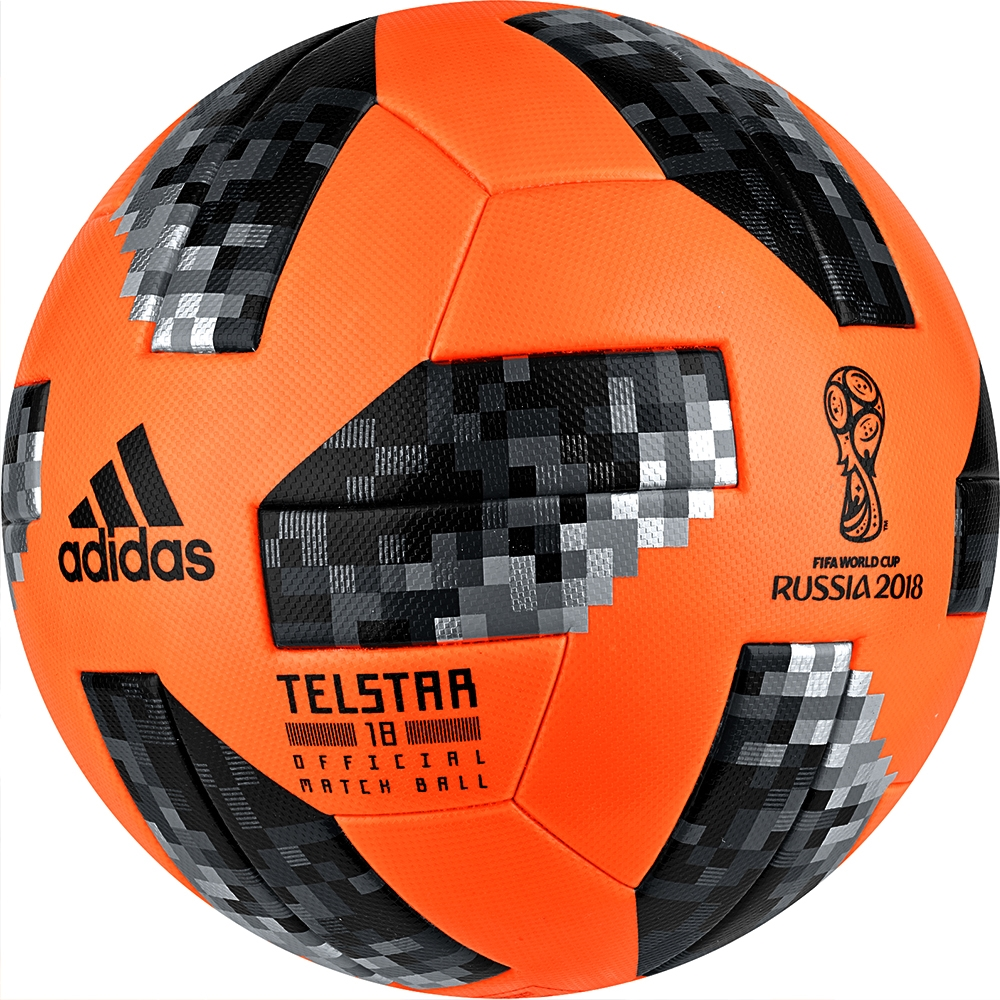 adidas world cup 2018 official match ball winter solar orange black
