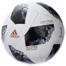 Adidas World Cup 2018 Competition Ball (White/Black/Silver Metallic)