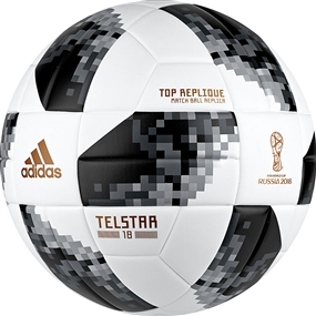 Adidas World Cup 2018 Top Replique Ball (White/Black/Silver Metallic)