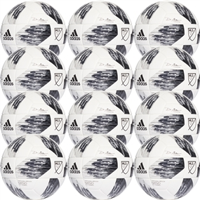 Adidas 2018 NFHS MLS Top Training Soccer Ball 12 Pack (White/Black/Grey)