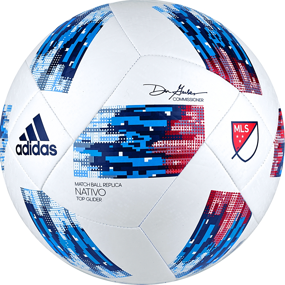 0e012f5fc Adidas 2018 MLS Top Glider Soccer Ball (White/Ash Blue/Night Indigo ...