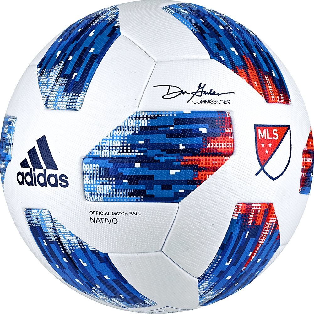 2fb46d970 Adidas 2018 MLS Official Match Soccer Ball (White/Ash Blue/Night ...