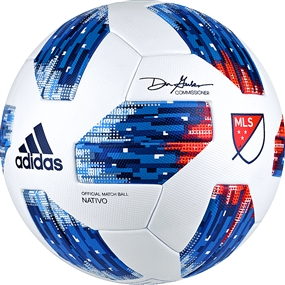 Adidas 2018 MLS Official Match Soccer Ball (White/Ash Blue/Night Indigo/Power Red)