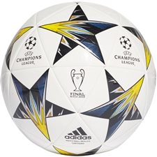 Adidas Finale '18 Kiev Capitano Soccer Ball (White/Black/Solar Yellow/Blue)