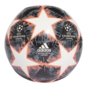 Adidas Finale 18 Capitano Soccer Ball (White/Black/Grey/Solar Red)